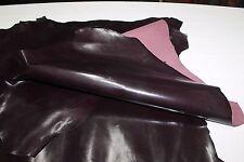 Italian Goatskin leather 400sqf 100 skins hides STRONG SHINY DARK PLUM