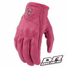 Guanti rosa da donna per motociclista
