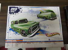 """2012 HOT WHEELS SPEC POSTER 1955 CHEVY PANEL  8 1/2"""" X 11"""" KMART ONLY"""