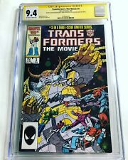 CGC SS 9.4 Transformers The Movie #3 signed by Judd Nelson, Eiding & Ross 1986