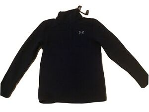 NWT Under Armour UA The Specialist Henley Sweater Fleece 2.0 Navy Blue Size S