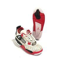 big sale 11db2 92151 madxo 3D mini sneaker AIR JORDAN 4 IV LASER 1 6 action figure real laces