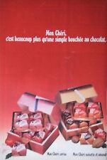 PUBLICITÉ DE PRESSE 1979 MON CHÉRIE FERRERO AU CHOCOLAT CERISE - ADVERTISING