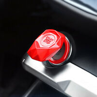 Red Car Engine Start Stop Engine Push Button Protection Cover Durable Universal