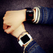 Damenuhr Herrenuhr Mode LED Digital Silikon Armband Armbanduhren Uhren Liebhaber