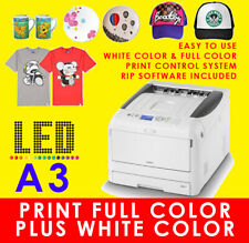 OKI WHITE TONER T SHIRT HEAT TRANSFER PRINTER & RIP SOFTWARE C811WT AS PRO8432WT