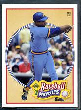 1991 Upper Deck Baseball Heroes #25 Hank Aaron 1976 755! Insert