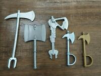 Masters Of The Universe Classics Lot Of Axe Weapons Original MOTUC Parts