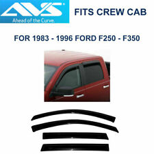 AVS Rain Guards Tape-On Window Vent Visors for Ford F250 F350 Crew Cab - 94075