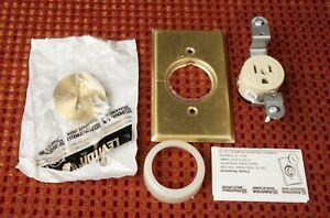 Leviton 5250 Brass AC Outlet