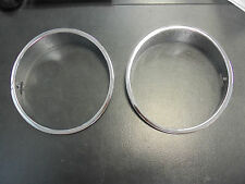 FORD XY HEADLIGHT SURROUNDS*TRIPLE PLATED**SUITS FORD XY- FALCON,FAIRMONT, GT**