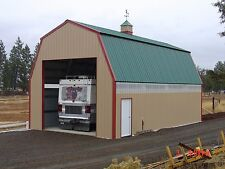 PREFAB STEEL QUAKER BARN BUILDING, MANY MORE SIZES