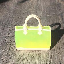 Barbie Doll Neon yellow handbag.