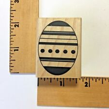 Savvy Rubber Stamp - Easter Large Patterned Egg 813D - NEW