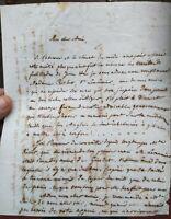 1833 257) LETTERA DEL GRANDE FISICO E MATEMATICO JACQUES BABINET AMICO DI AMPERE