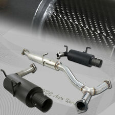 "For 2000-2009 Honda S2000 4"" Dual Carbon Fiber Tip Black Catback Exhaust Muffler"