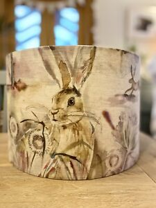 MADE TO ORDER LAMPSHADE VOYAGE GRASSMERE FABRIC SWEETPEA OR FIG HARE RABBIT FOX