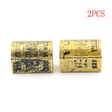 2Pcs Dollhouse Miniature Treasure Box Mini Pirate Jewelry Box Kids Play Toys ll