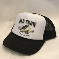 Old Crow Trucker Hat Vintage Style Mesh Back Snapback Cap!