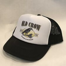 Old Crow Trucker Hat Vintage Style Mesh Back Snapback Cap!