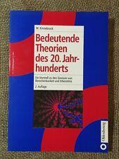 Kinnebrock: Bedeutende Theorien des 20. Jahrhunderts (2002) ... WIE NEU