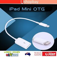 OTG Lightning Cable Adapter Camera Connection iPad 4/ iPad Mini 8 pin usb 2.0