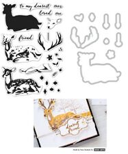 Hero Arts Clear Stamps & matching Dies - Colour Layering Deer, Friend, Baubles