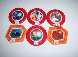 DISNEY INFINITY 2.0 Marvel Heroes Power Disc Lot 6 Rares Gauntlet Falcon Captain