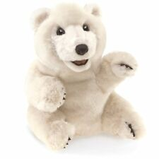 Folkmanis Puppets Play Pretend Fun Animal Puppets (Sitting Polar Bear)