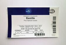 BASTILLE TICKETS - Unused Ticket Stub(s) O2 Arena London 01/11/16 Memorabilia