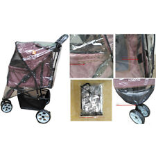 Universal Pushchair Transparent Dog Stroller Rain COVER for Foldable Pet Buggy
