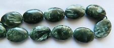 """Seraphinite, """"A"""" Grade Flat Oval 20mm x 15mm with Silver Flashes, x 1 bead"""