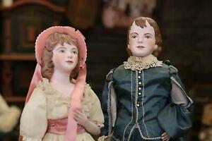 Rare Pinky and Blue Boy Artist Original Dolls by Polly Mann Estate Dolls