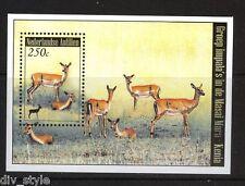 Impala souvenir sheet mnh 2008 Netherlands Antilles Masai Mara Reserve Kenya