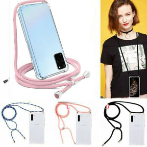 Case with Neck Lanyard Cord Strap For Samsung S20 Ultra S10 Note 10 S9 S20 Plus
