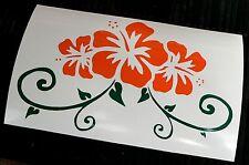 adesivo fiore decal sticker vinile ritagliato sticker flower hawaii hawai summer