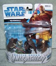 STAR WARS 2008 BATTLE PACKS UNLEASHED JEDI GENERALS FIGURE SET