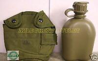 NEW US Military 1 QUART QT HARD PLASTIC CANTEEN w/ NBC CAP + OD COVER POUCH USGI