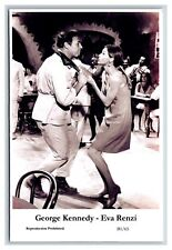 George Kennedy - Eva Renzi actor pair Swiftsure 2000 modern print Postcard B1/65