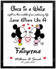 Valentines DISNEY Gifts PERSONALISED for Him Her Anniversary Present MR MRS