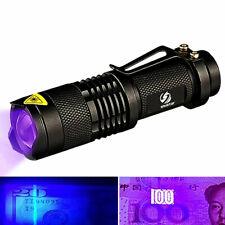 Fj- 80000LM LED UV Torcia Luce 5MODE a Zoom Regolabile 395NM Blacklight 186