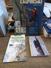 lot de 3 livres sur l'escalade et l'alpinisme : cappon - glée - rousselet