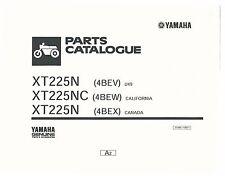 Yamaha Parts Manual Book 2001 XT225N