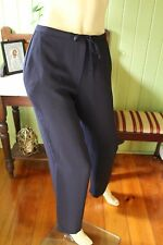 Jacqui E Navy Polyester Crepe Pant size 8 POST1-4 Items=$10 5 or more=FREE tr003