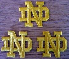 """Lot of 2 Notre Dame Fighting Irish 2"""" Embroidered ND Letter Patches GTC"""