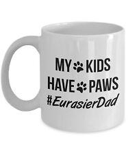 Eurasier Dad Mug Eurasier Gift Eurasier Dog Dad My Kids Have Paws Hash Tag.