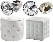 Crystal Diamante Glass Round Button Upholstery Headboard Chair Sofa 20/25/30mm