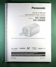 Panasonic HC-V500 Instruction Manual: Full Color & 168 Pages!