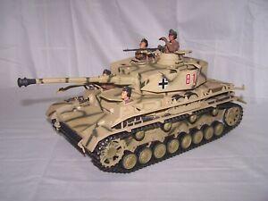 Ultimate Soldier 1/18 WWII German Panzer Tank w/4 Man Crew