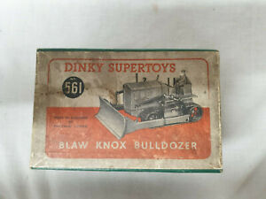 Meccano DINKY SUPERTOYS - No.561 - BLAW KNOX BULLDOZER WITH ORIGINAL BOX - Red